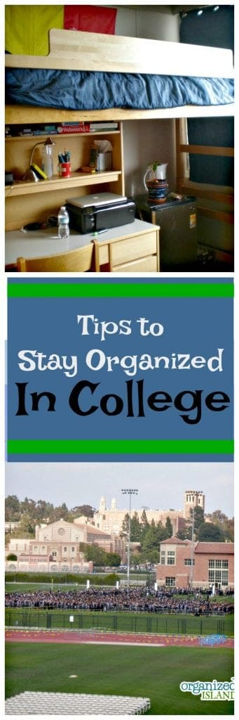 Need some tips to stay organized in college? We've got some tips for you!