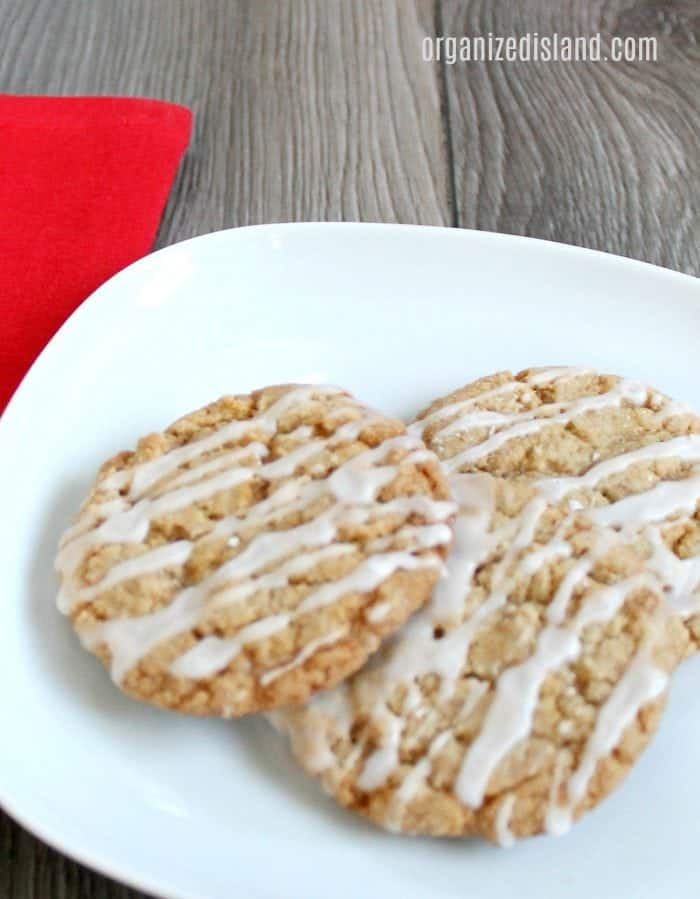 This easy iced toffee cookie recipe will be a new favorite any time of year. Soft toffee cookies with a light icing.