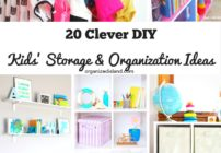 A round up of kids storage and organization ideas from Organized Island.