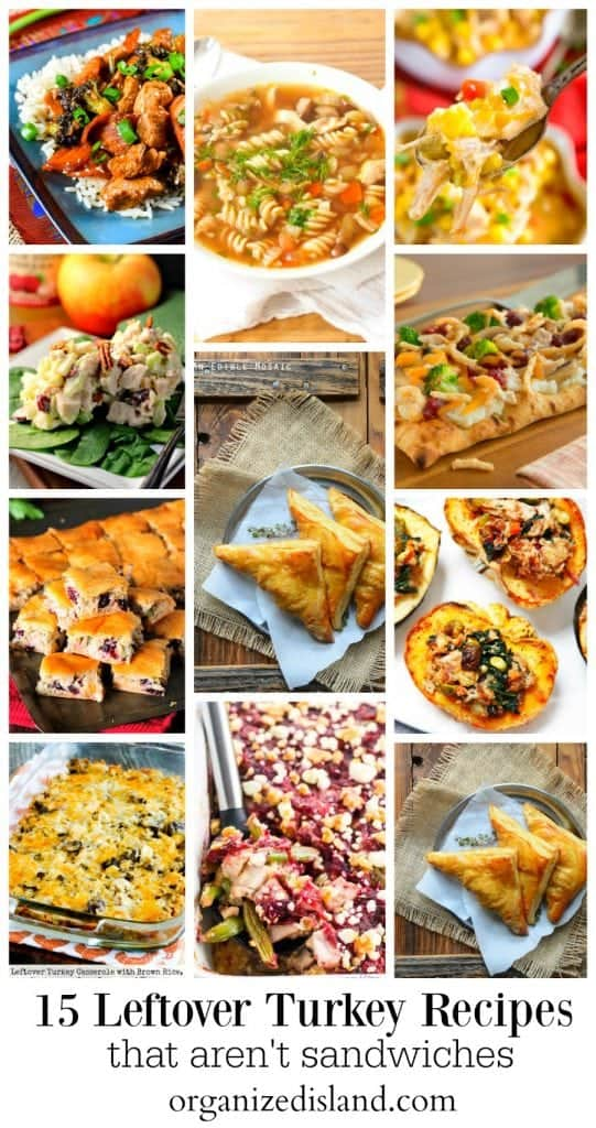 Leftover Turkey recipe ideas to make with leftover turkey. Perfect for Thanksgiving or Christmas leftovers.