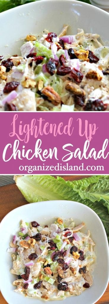 Lightened chicken salad recipe