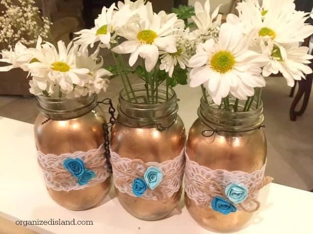 Bridal shower mason jars