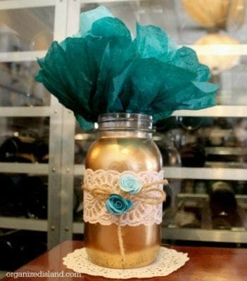 Mason jars are so cute and an inexpensive way to decorate for a shower, wedding or party! This tutorial shows how versatile they are for decor!