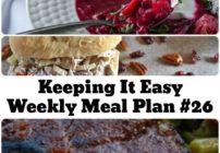 weekly meal plan ideas