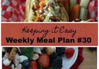 Menu Plan for the week!