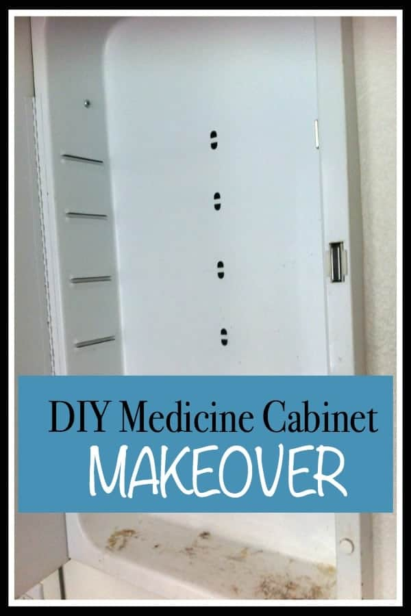how to repair a medicine cabinet with rust stains.