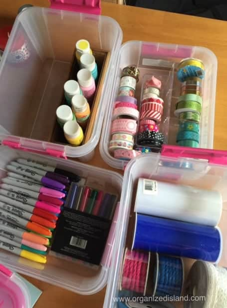 My washi tape is all organized and ready to go in these stylish containers from Snap Ware.