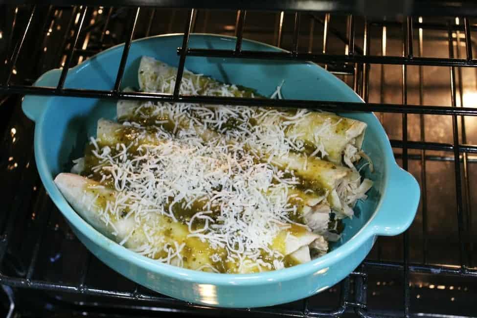 Easy Chicken Verde enchiladas recipe.