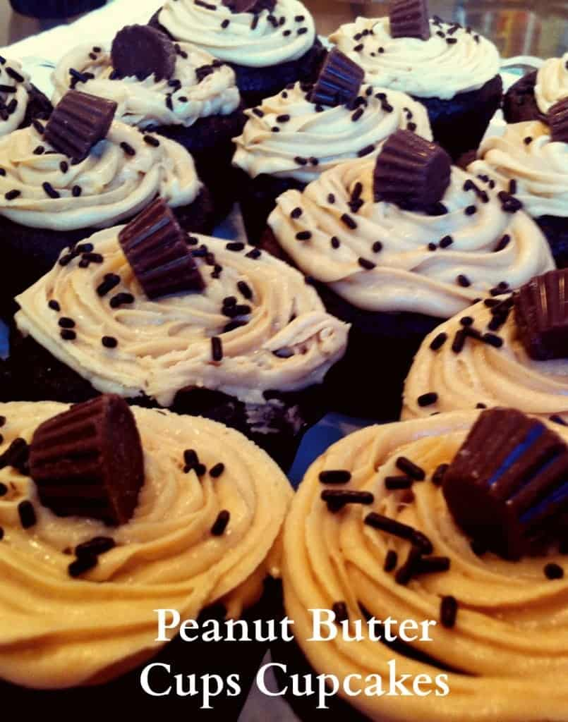 These peanut butter cup cupcakes are delighful and so easy to make! You will be asked for the recipe!