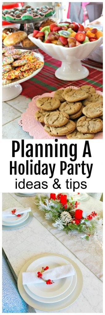 How to plan a holiday party - tips and holiday party ideas on a budget.