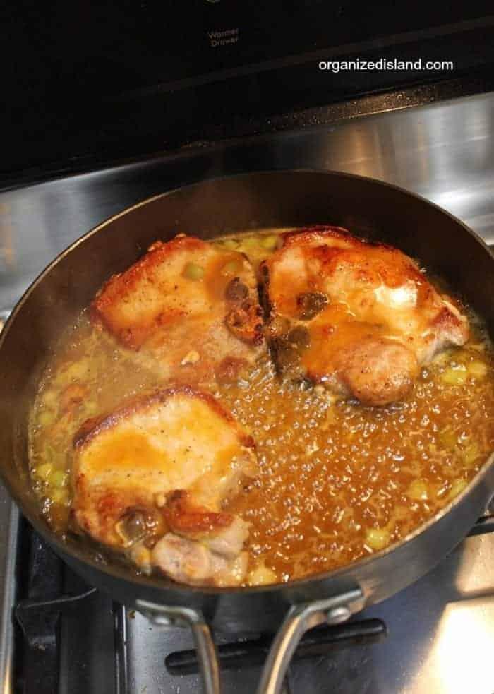 Saucy Pork Chops with Apricot Glaze