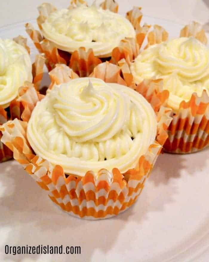 Pumpkin Cupcakes from mix