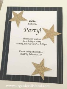 Make these fun award party invitations with punch art!