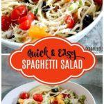 Easy Spaghetti salad