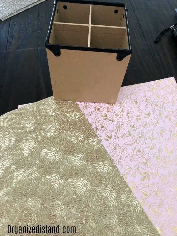 DIY Upcycle Project - kraft box and decorative paper