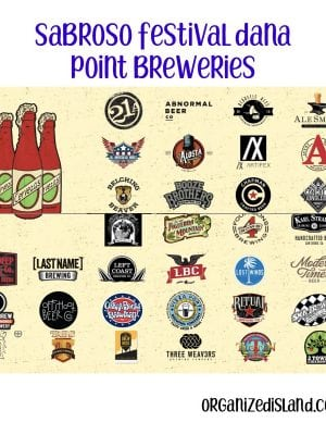 Sabroso festival list of breweries for Dana Point