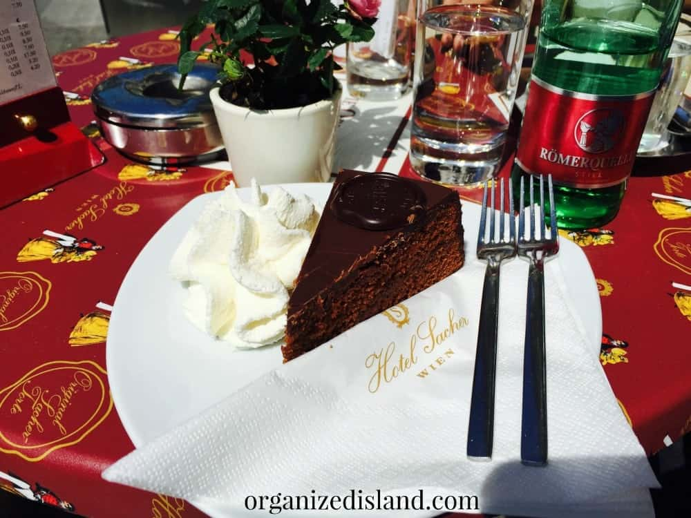 Another must visit for foodies - the Sacher Torte with fresh cream!