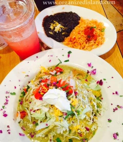 Delicious enchiladas from Sharkey's