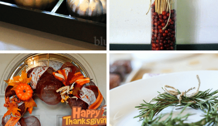 Simple DIY Thanksgiving decor ideas for your home.