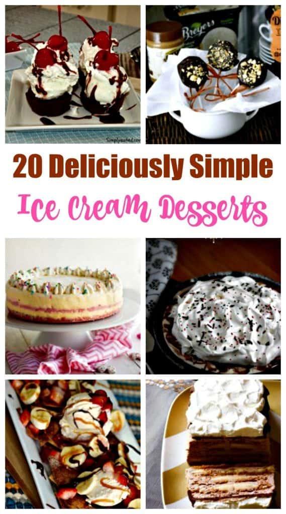 Simple ice cream dessert recipes