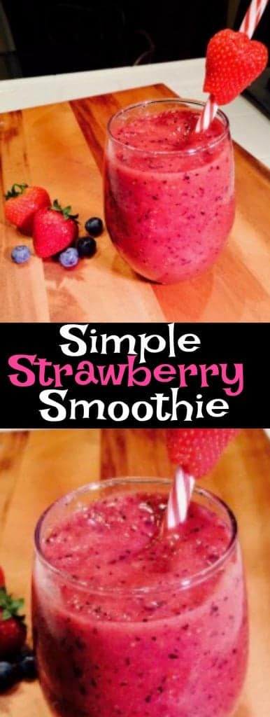 Delicious and quick strawberry smoothie recipe.