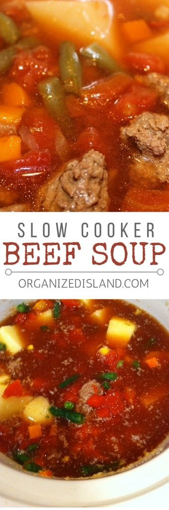 Easy Slow Cooker Beef Vegetable soup