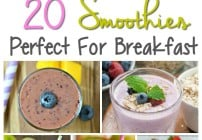Healthy Smoothie recipes that are great for breakfast, a snack or even as a meal once in a while!