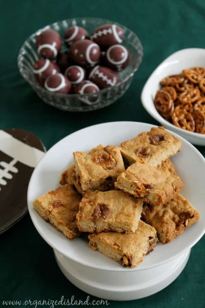 SNICKERS Bar Cookies & A Big Bowl Game Party - Organized Island
