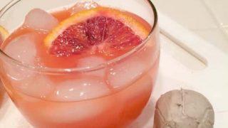 Fun Halloween cocktail idea - a blood orange twist on a fuzzy navel. Tasty too!