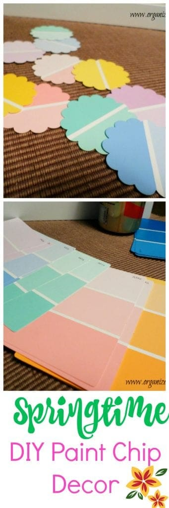 Spring Home Decor Projects - using paint chips