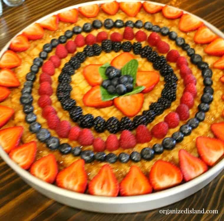 Stacked fruit tart