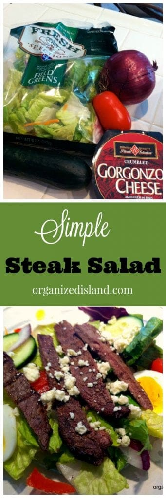 Looking for a lighter summer supper idea? This simple steak salad recipe is a keeper for warm evenings!