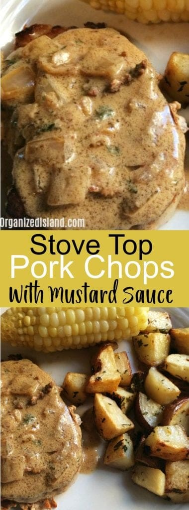 Stovetop Pork Chops with Mustard Sauce