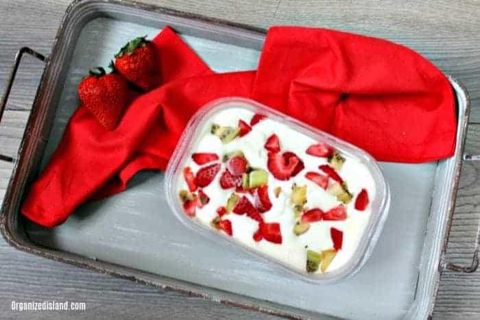 No Churn Strawberry Kiwi Ice Cream