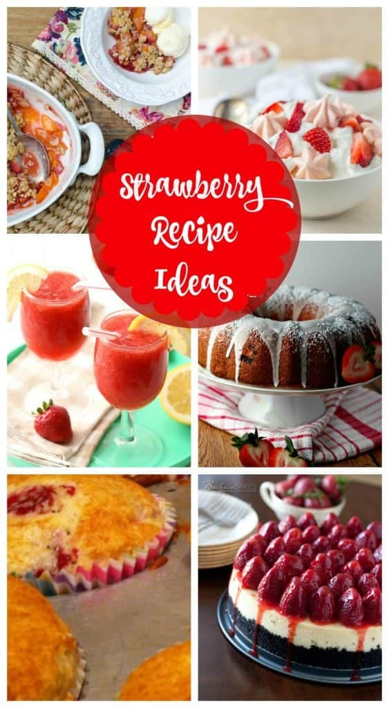 Easy strawberry recipe ideas -strawberry cake, strawberry pie and more.