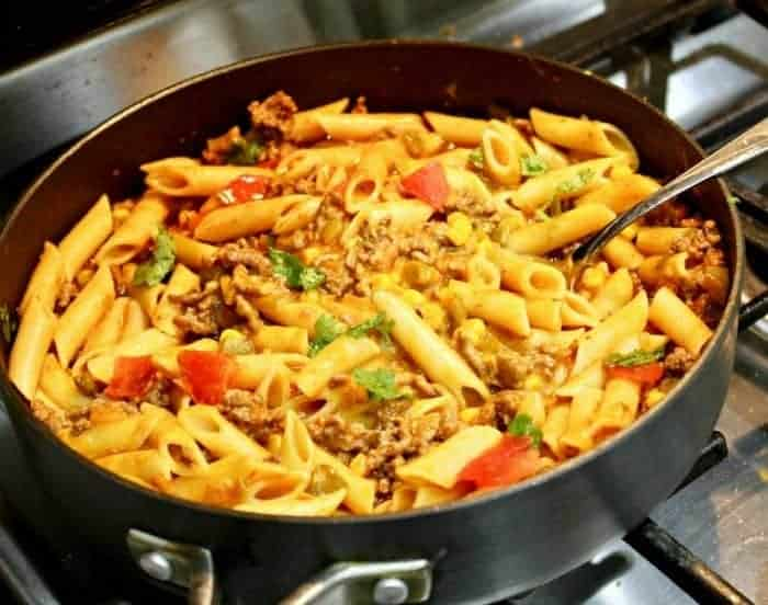 Taco Pasta With Ground Beef