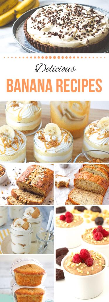 Round up of banana desserts