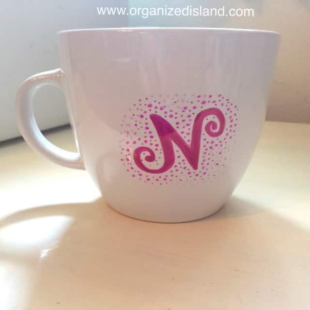 Sharpie mug art is really simple to do! Be sure to bake it to set it!