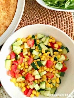Easy Corn Tomato and Zucchini Salad