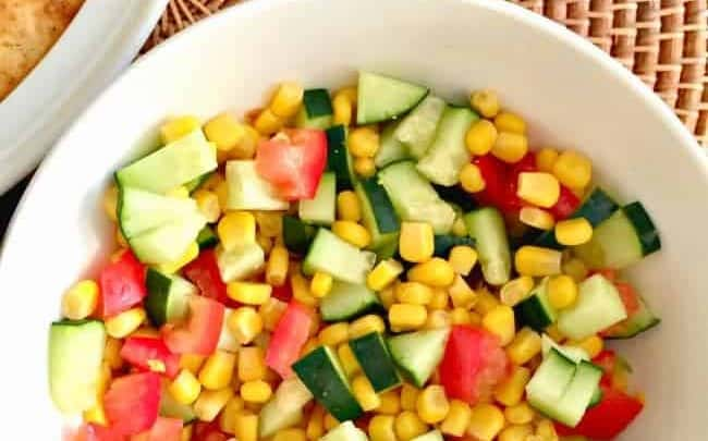 tomato corn and zucchini salad