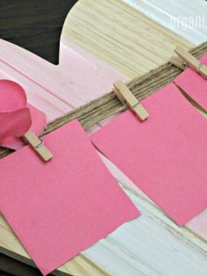 Dollar bin Valentine's Craft Idea - using items from Target Bullseye Playground