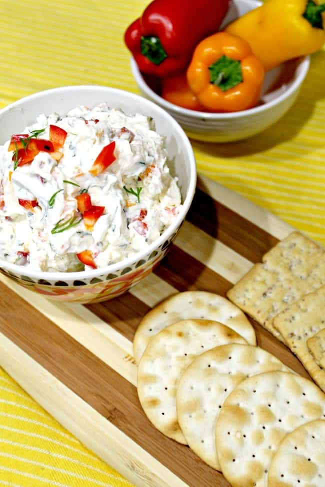 A favorite Vegetable Cream Cheese Dip Recipe. Perfect dip for vegetables.