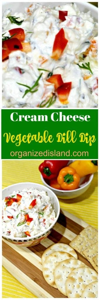 Vegetable Cream Cheese Dip Recipe
