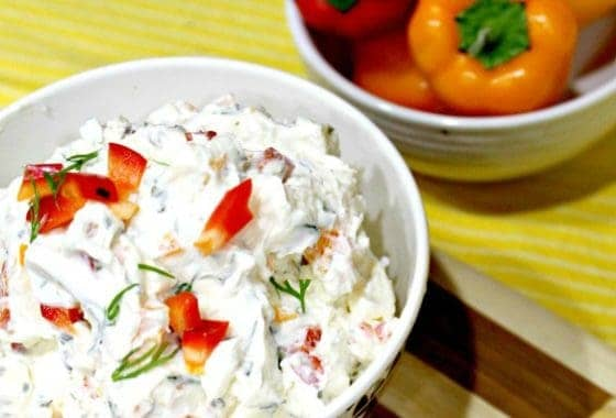 Fresh Garden Vegetable Cream Cheese Dip