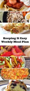 Weekly meal plan with tasty and tested recipes from favorite bloggers.