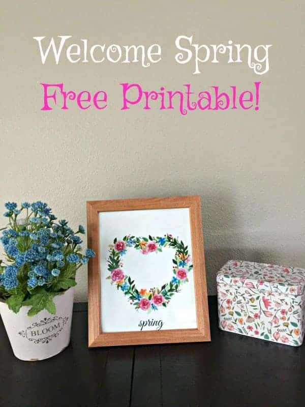 Welcome Spring Sign Printable