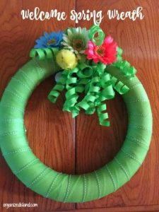 Simple Spring wreath idea