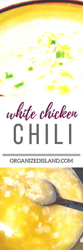 White Chicken Chili recipe -so warm and comforting.