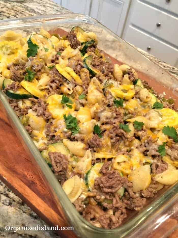 Baked Zucchini and Ground Beef Casserole