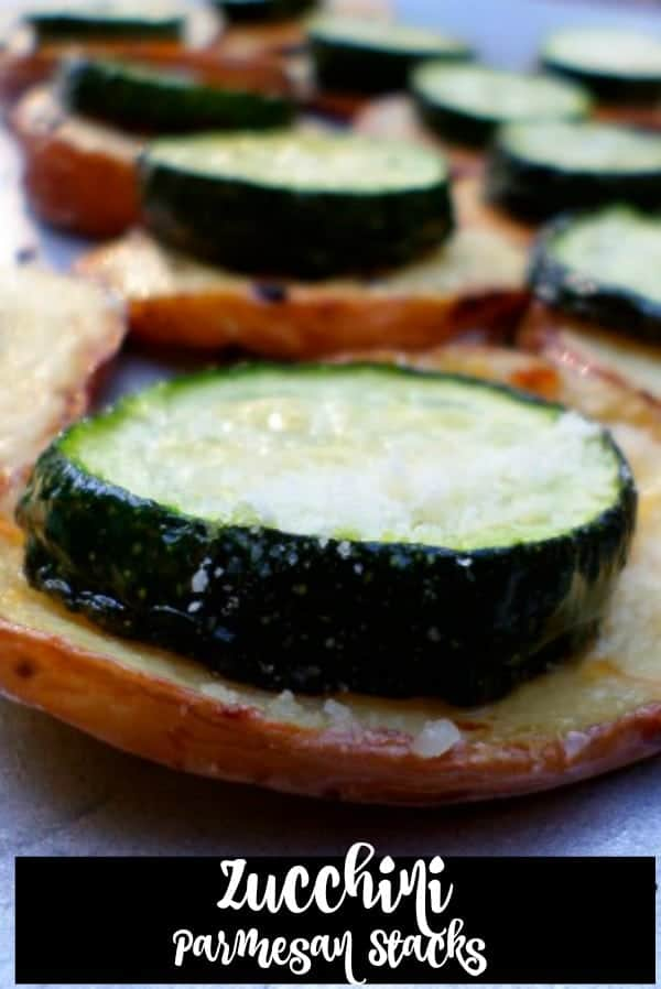 Zucchini Potato Parmesan Stacks Appetizer